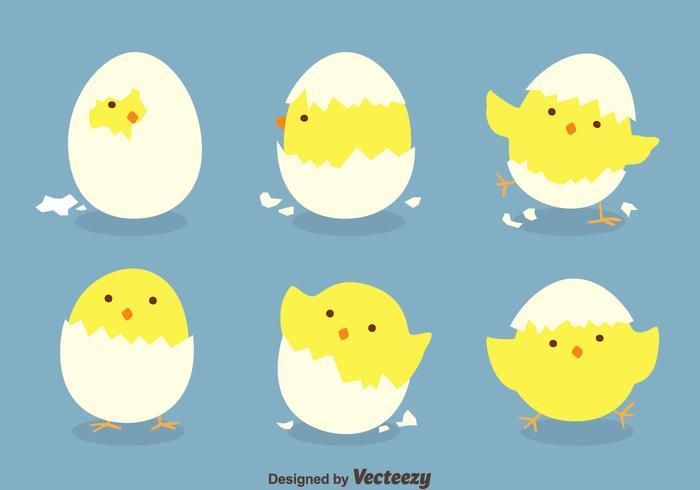 Vecteurs drôles de Pâques Oeufs