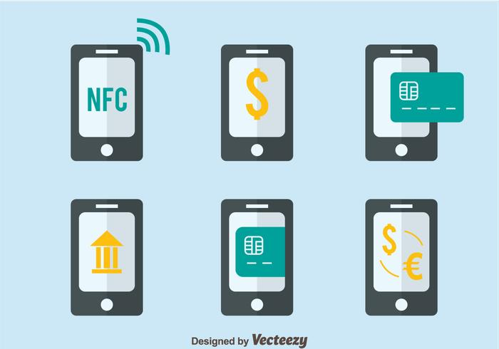 Nfc Betaling Flat Style Vectors