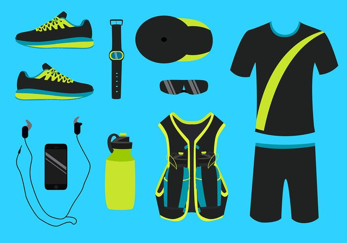 Running Equipment Gratis Vector