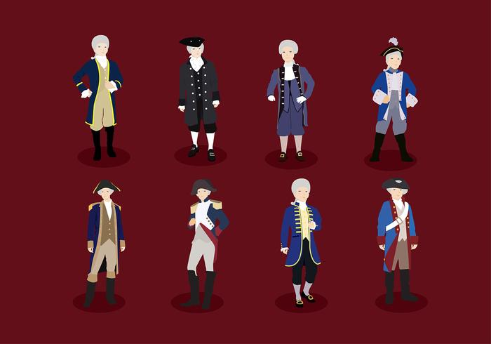 Colonial Character Free Vector