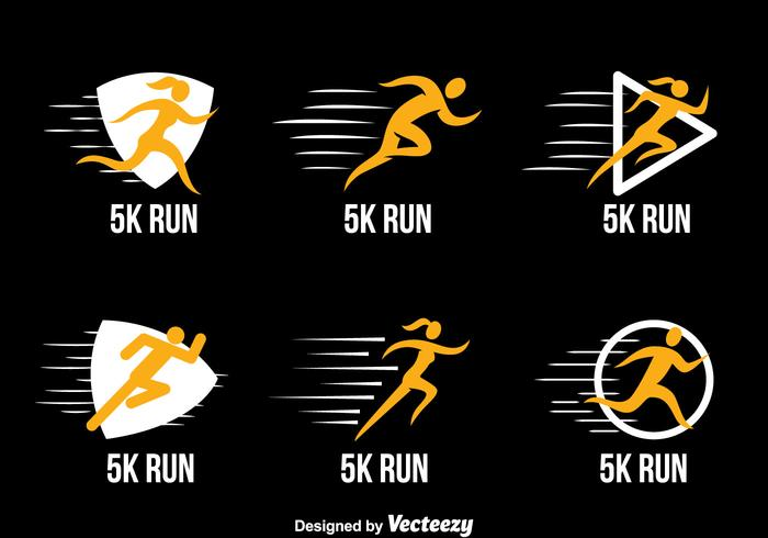 5k Run Logo Collection Vektoren