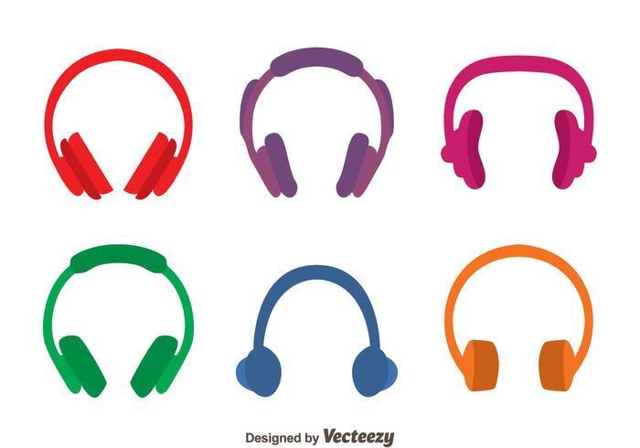 Farbige Kopfhörer Vektoren