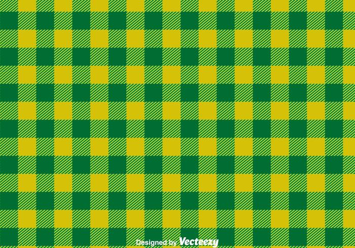 Green Flannel Ornament Vector