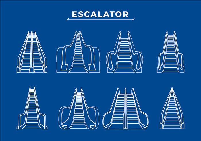 Various Escalator Free Vector