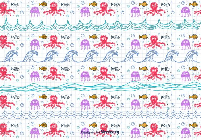 Drawing Sea Pattern Children's