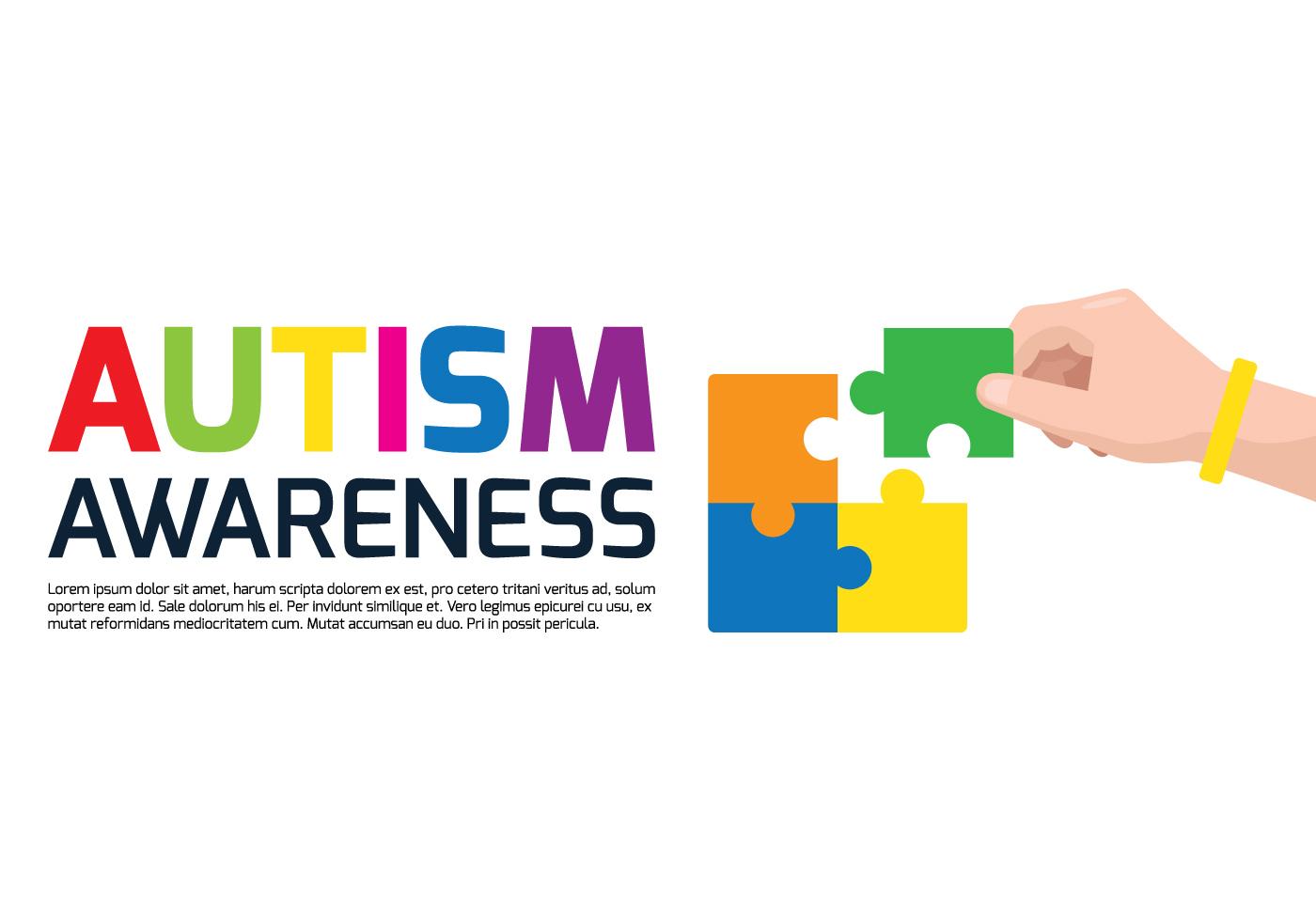 Autism Awareness Poster - Download Free Vectors, Clipart ...