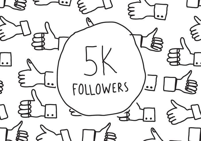 Seguidores 5K Doodle
