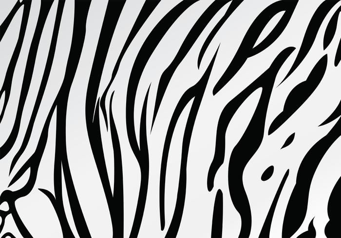 White Tiger Stripe Pattern Vector