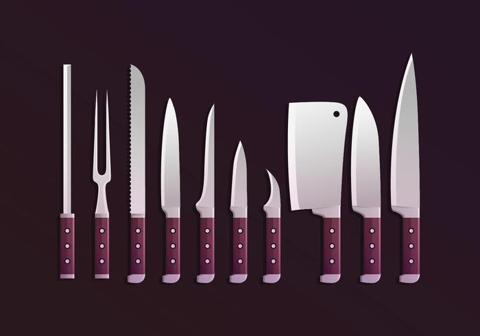 Knifes Collections Vector