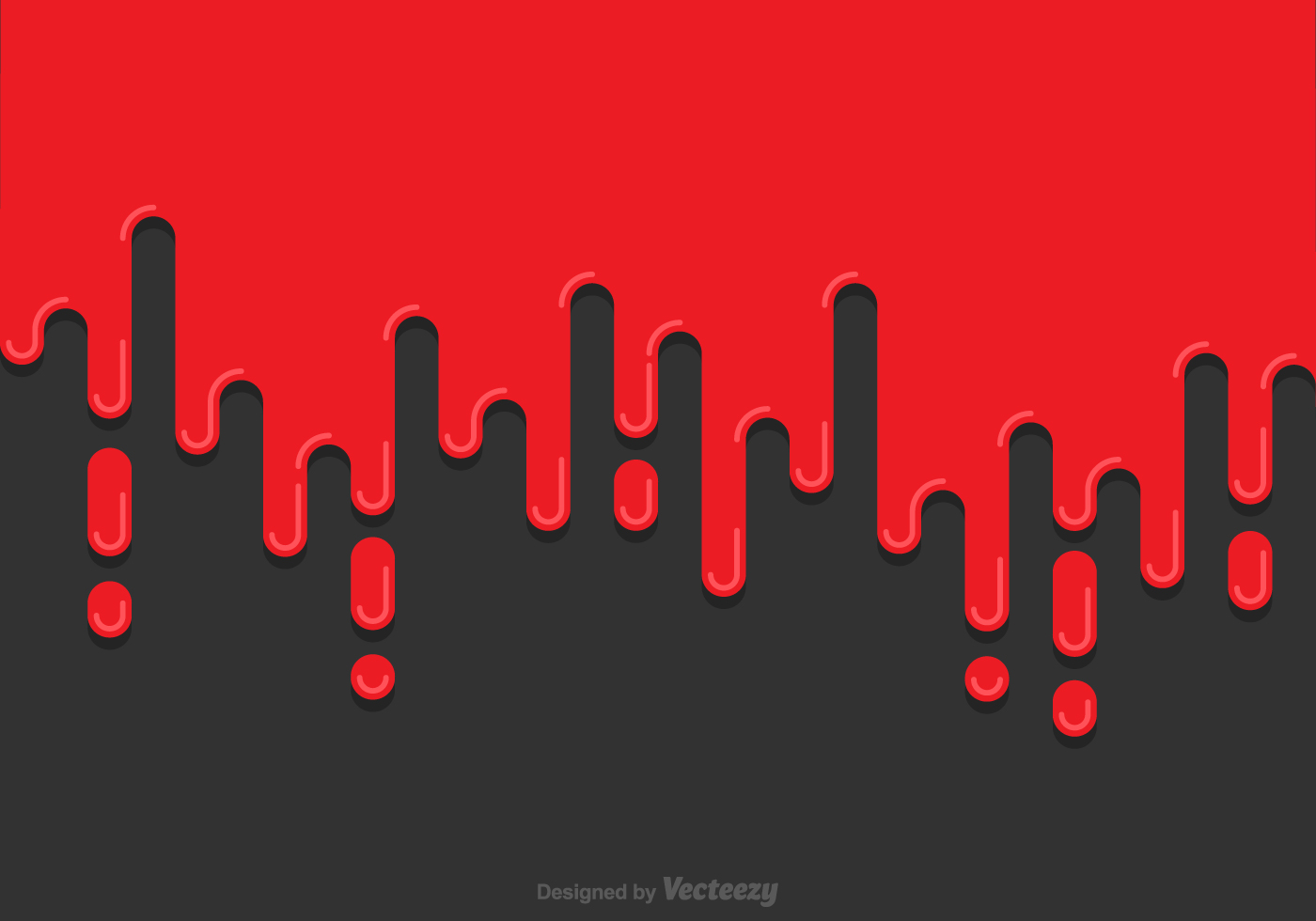 Red Paint Dripping Background