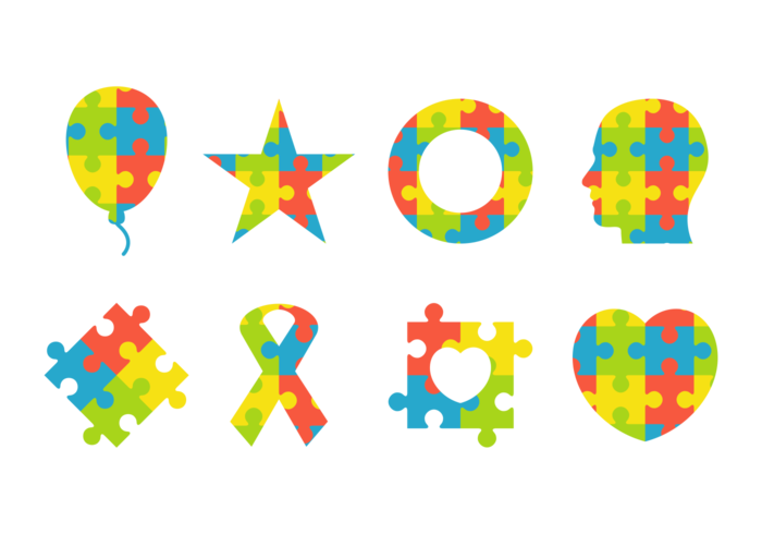 Colorful Puzzle Symbol Of Autism Download Free Vector Art Stock
