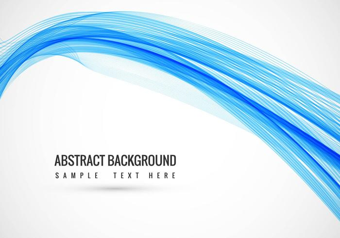 Background livre Vector ondulado azul