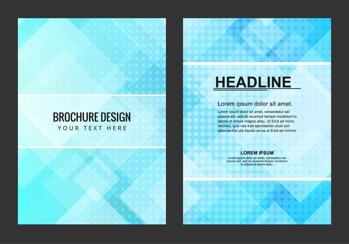 Free Vector Blue Business Brochure