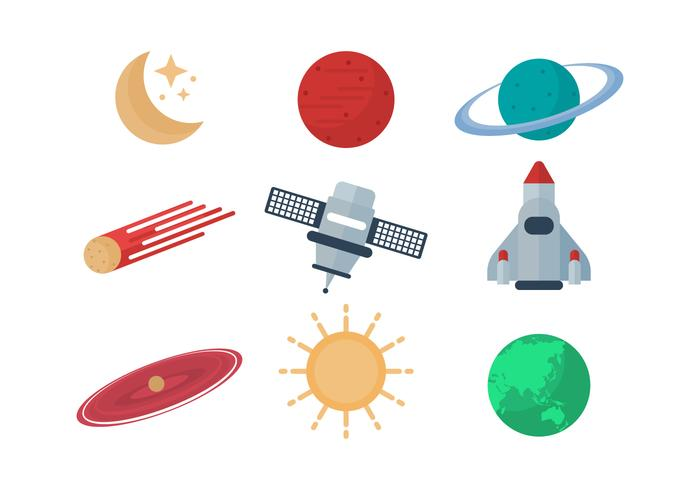 Free Astronomy Vector Icons