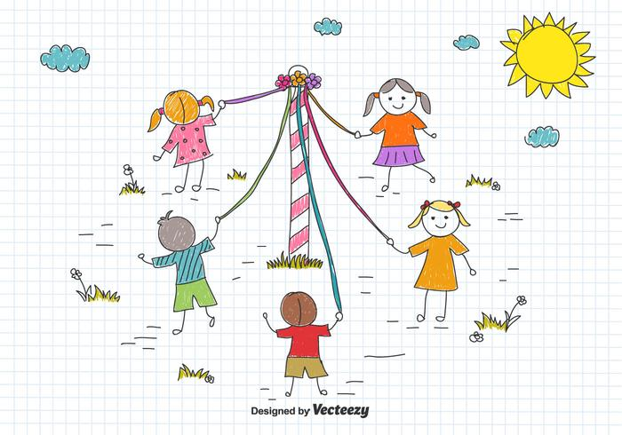 Drawing Vector meiboom Children's