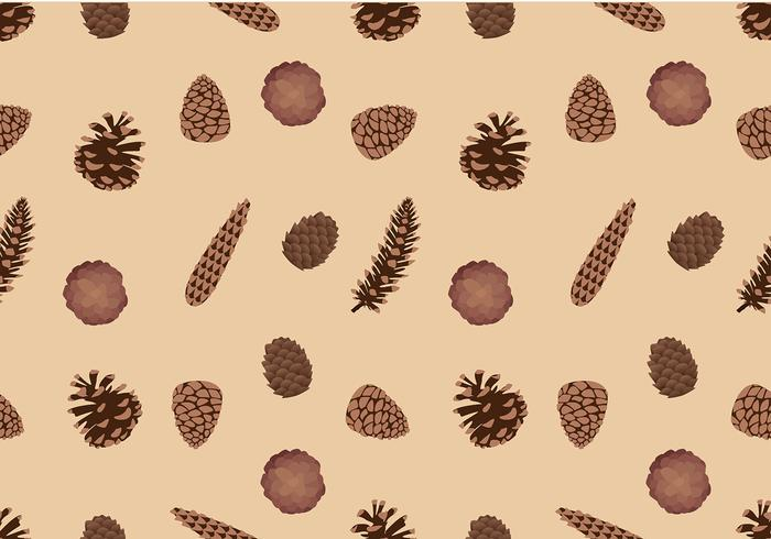 Pine Cones Pattern Free Vector