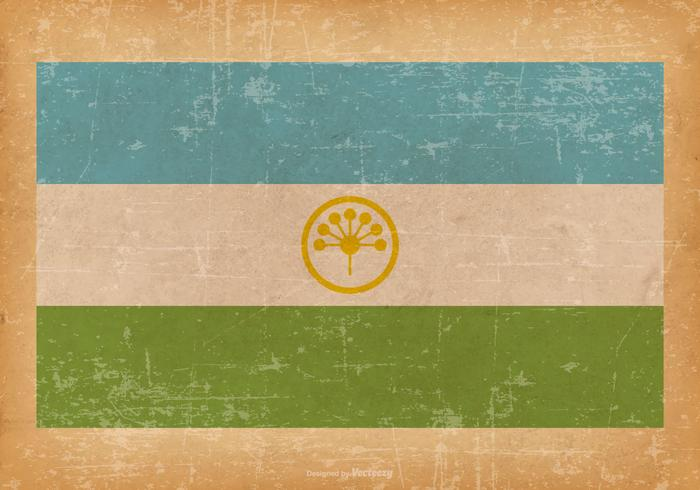 Vlag Grunge van Bashkortostan