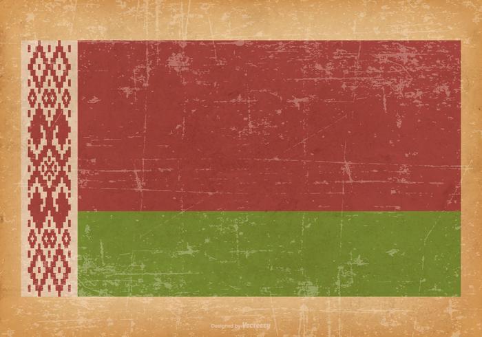 Bandiera del grunge della Bielorussia
