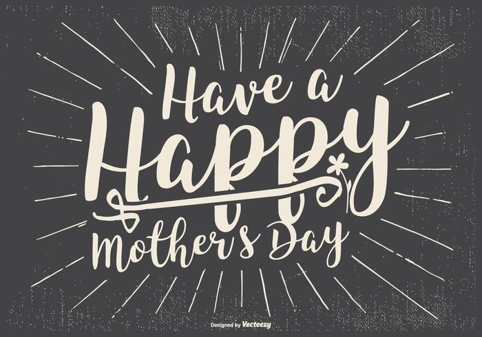 Retro Typographic Mother's Day Illsutartion