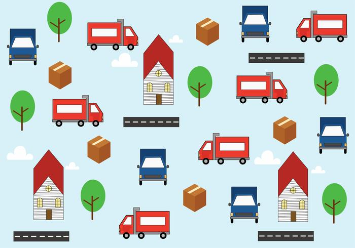 Moving Van Background Vector