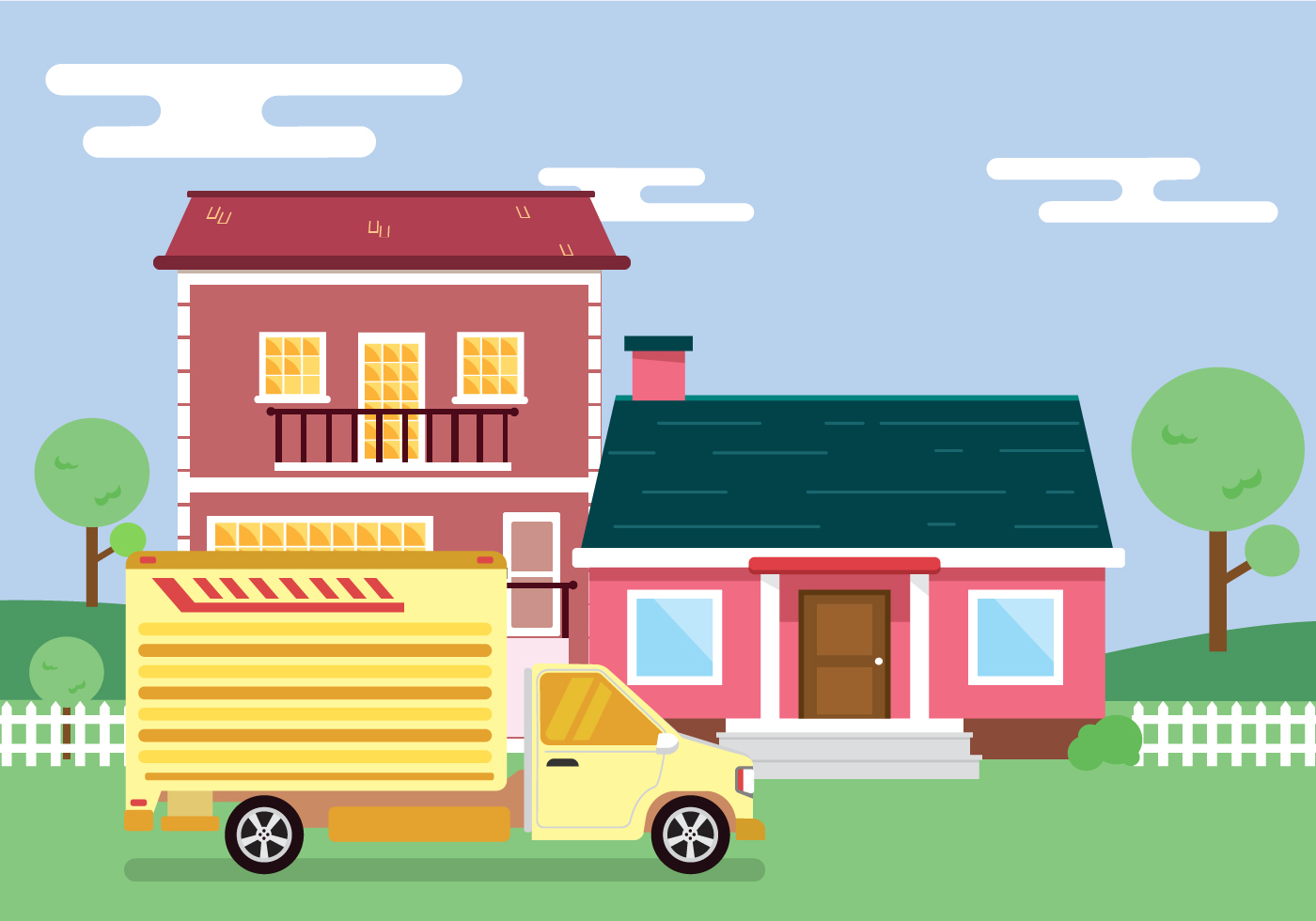 Moving to New House Vector - Download Free Vectors ...