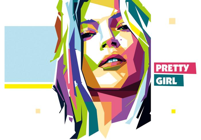 Pretty Girl vector wpap
