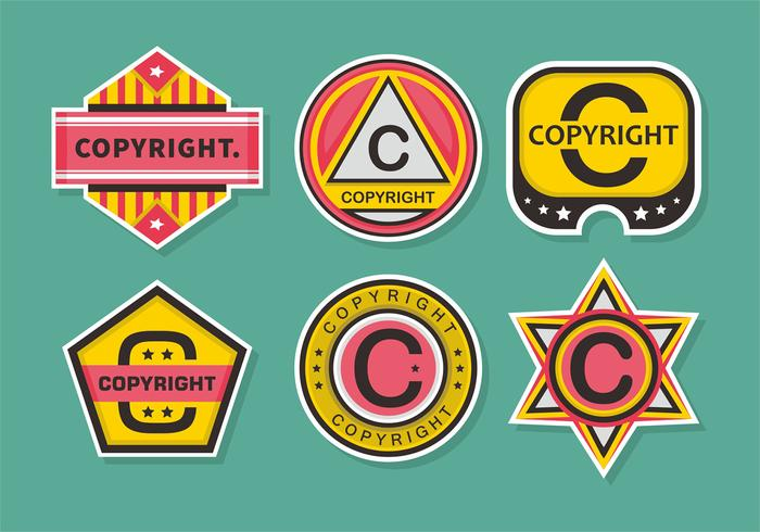 Copyright Stamps Vector Set