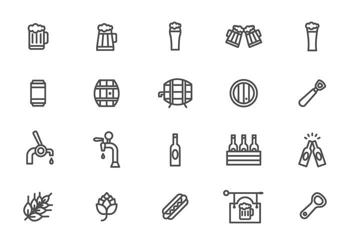 Minimalista Beer y Cerveja Vectors