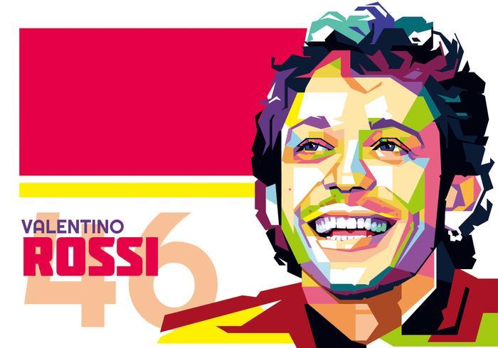 Valentino Rossi Vektor WPAP