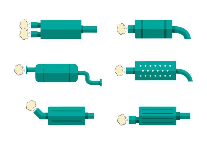 Green Flat Muffler Vectors