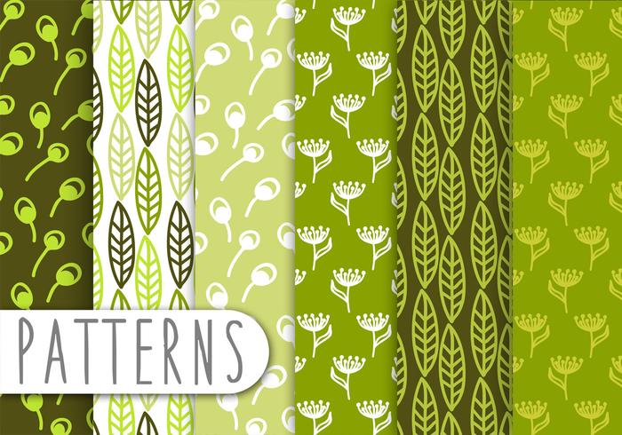 Dekorativa Green Leaf Pattern Set