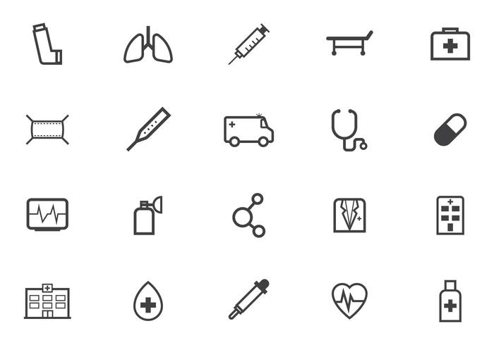 Free Medical Icon Vector Pack