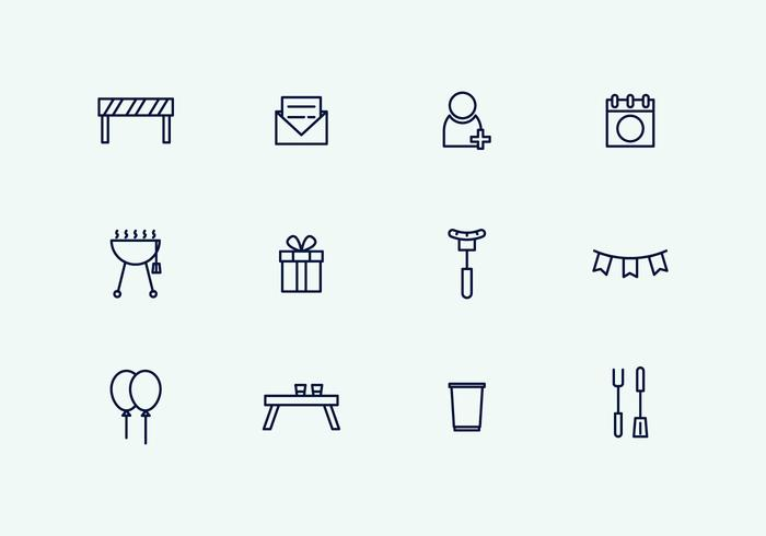 Outline Party Icons