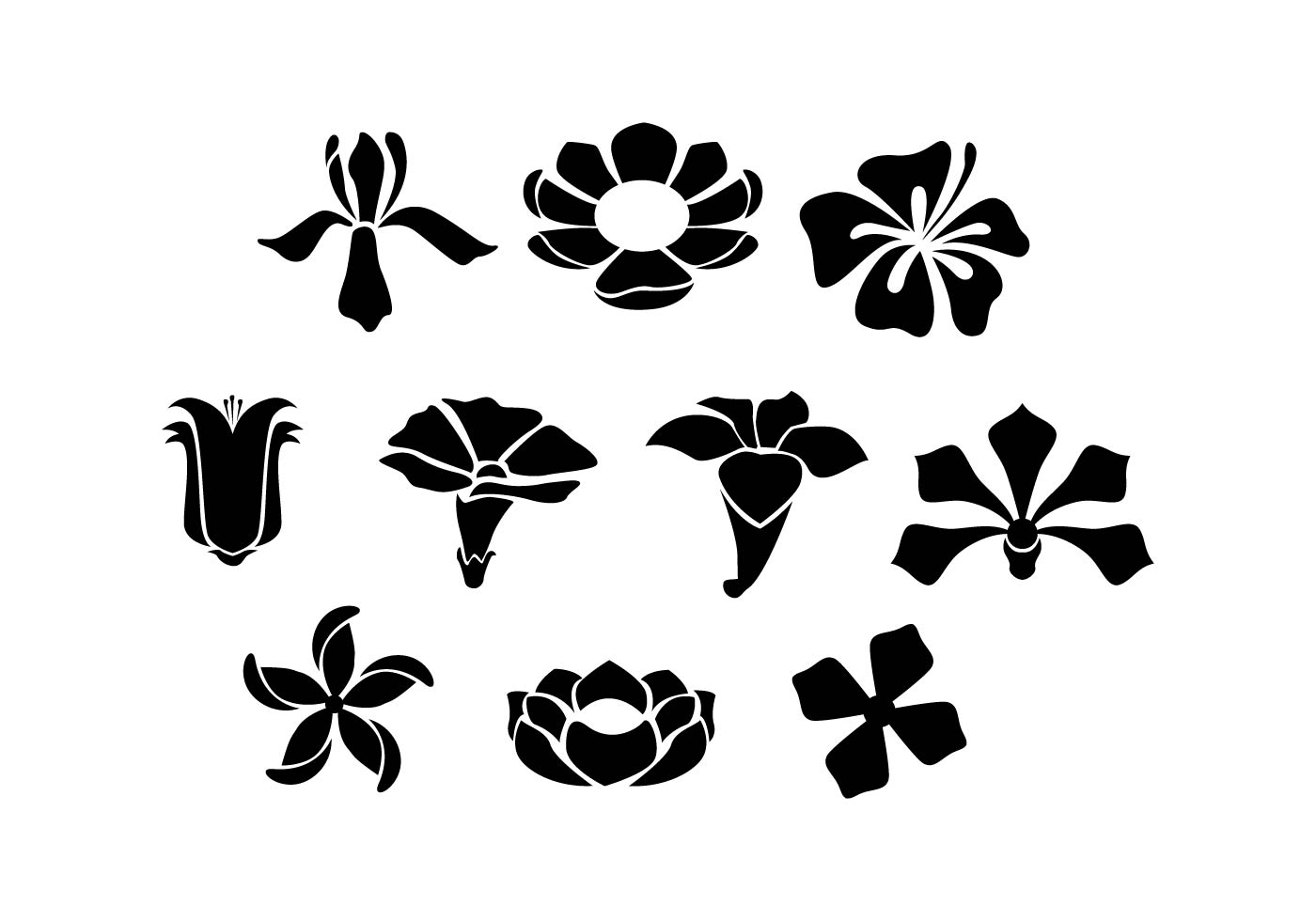 Flower Silhouette Free Vector Art 13772 Free Downloads