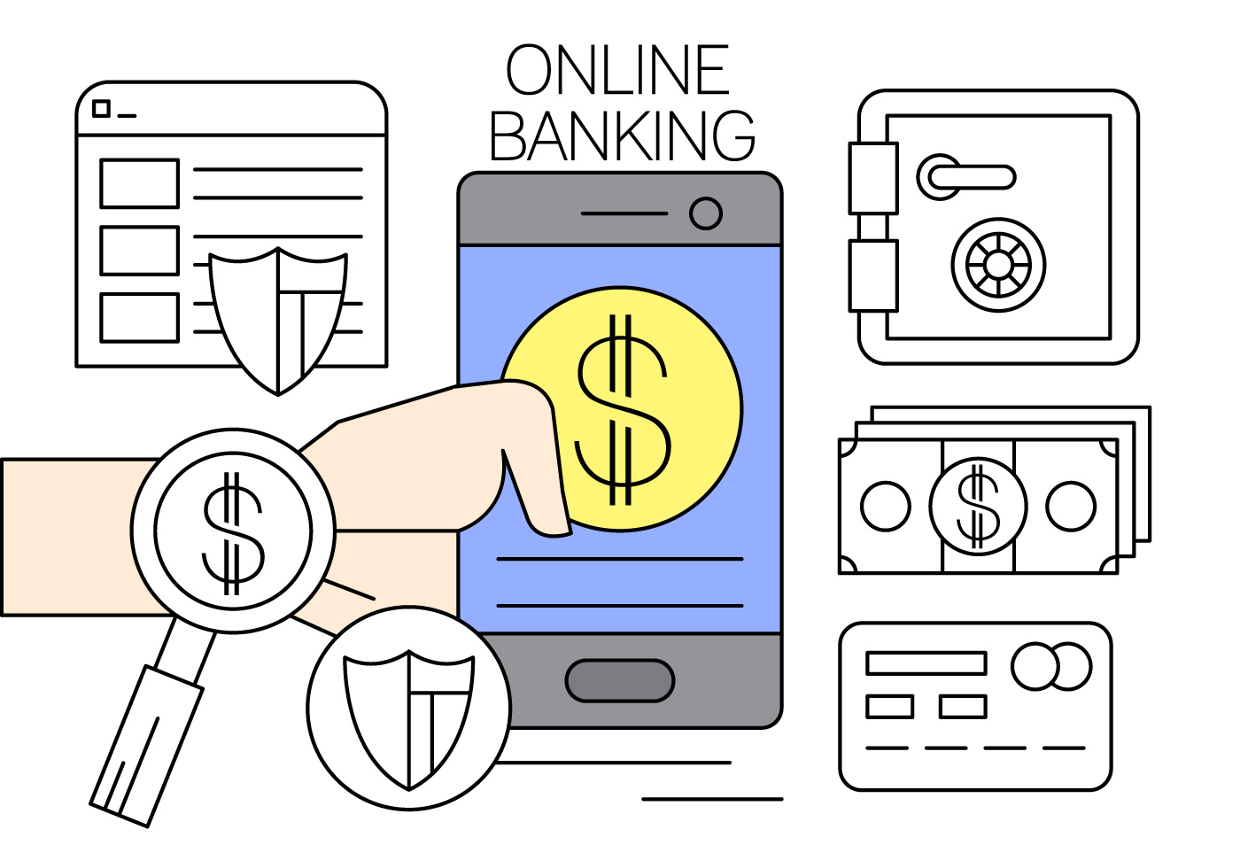Free Online Banking Vector Illustration - Download Free ...
