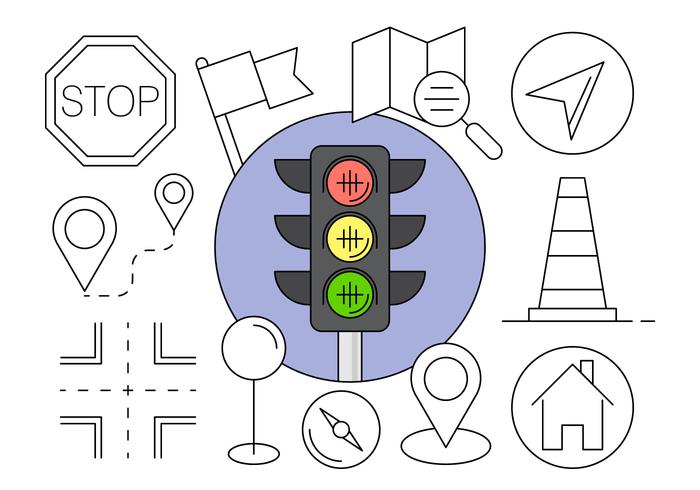 Navigation Icons for Free in Vector Elements