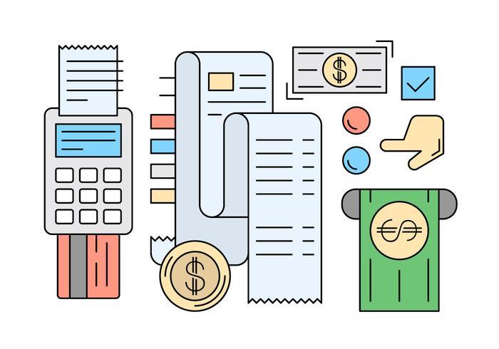 Ícones de pagamento lineares gratuitos