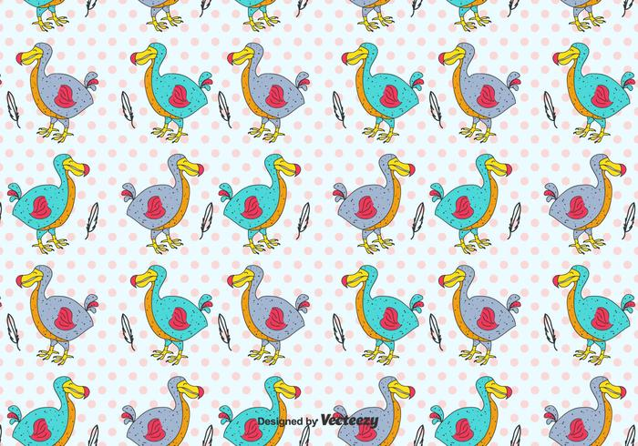 Cartoon Dodo Vector Pattern