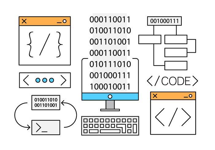 Vecteurs de développement Web gratuit linéaire