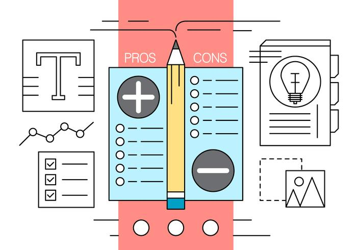 Free Pros and Cons Vector Illustration
