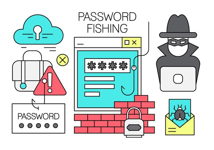 Free Linear Password Hacking Vector Elements