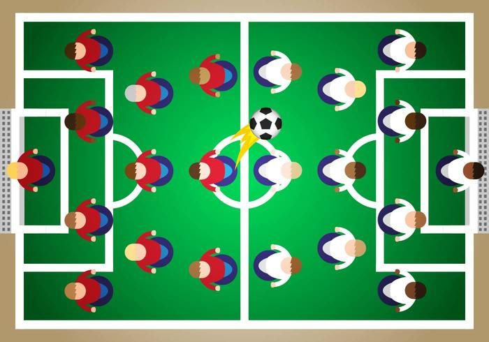 Subbuteo Fußball Illustration Vektor
