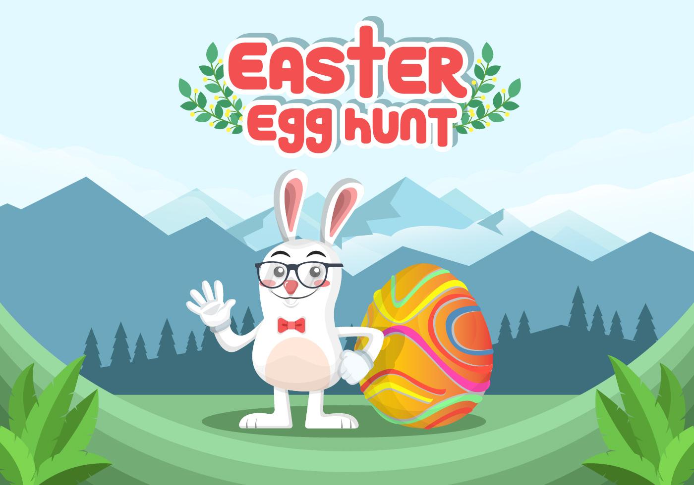 Easter Egg Hunt Vector Background