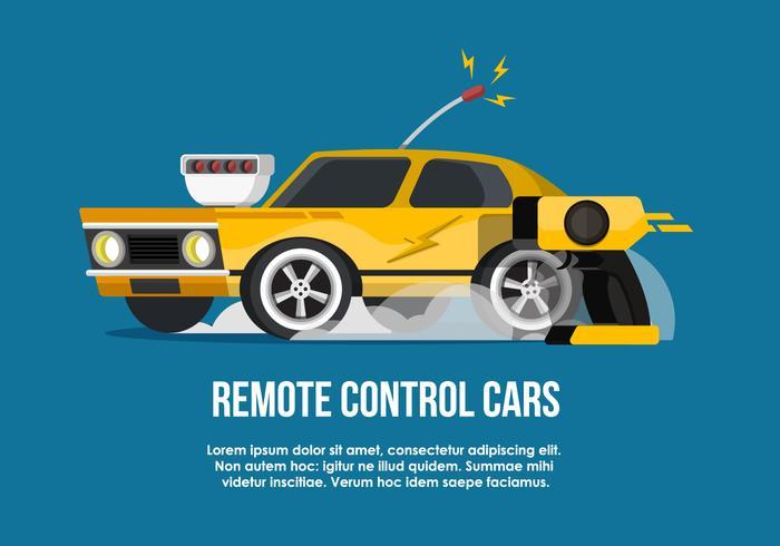 RC Car Flat Vector Illustration