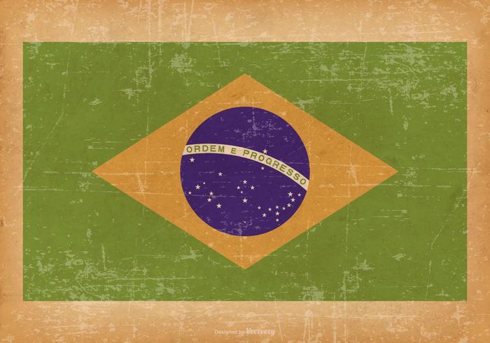 Grunge Flagge von Brasilien