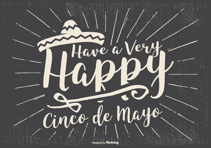 Typographic Cinco de Mayo Illustration