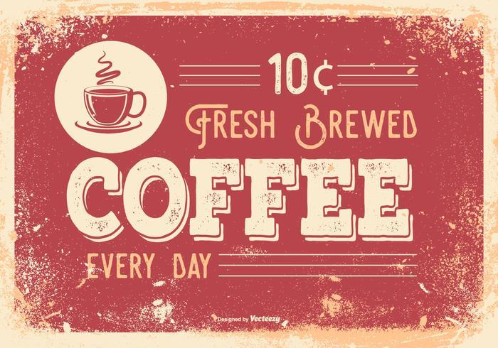 Vintage Illustratie Retro Koffie van de Stijl