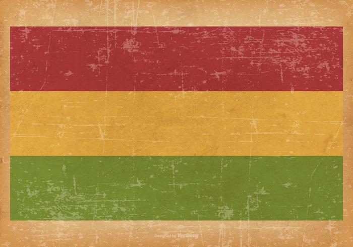 Grunge Flagge von Bolivien