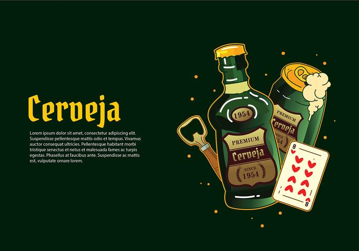 Cerveja Green Bottle Free Vector