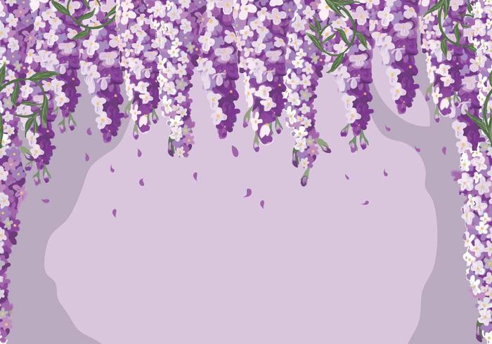 Wisteria Background Vector